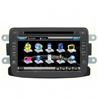 Navigatie Dedicata DACIA LOGAN DUSTER LODGY SANDERO DVD GPS auto CARKIT TV INTERNET NAVD-A157