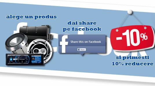 10% reducere pe Facebook