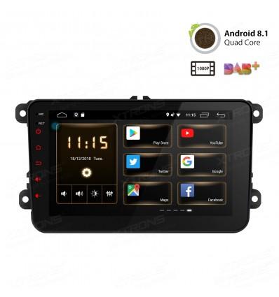 Navigatie dedicata VW cu android 8 si wifi, 2Gb RAM